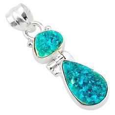 925 sterling silver 8.56cts natural dioptase pear pendant jewelry t5819