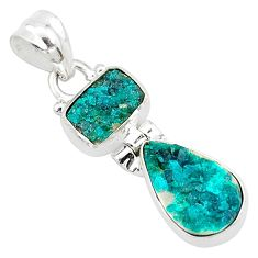 925 sterling silver 8.87cts natural dioptase pear shape pendant jewelry t5808