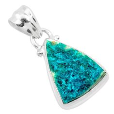 925 sterling silver 7.50cts natural dioptase handmade pendant jewelry t3179