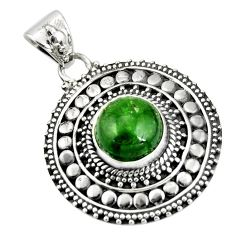 925 sterling silver 5.35cts natural green chrome diopside pendant jewelry r20284