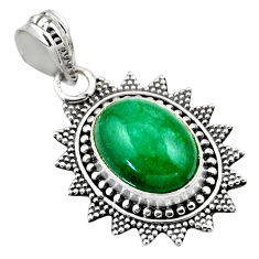 925 sterling silver 6.10cts natural green chrysocolla pendant jewelry r53144