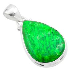 925 sterling silver 12.07cts natural green maw sit sit pear pendant t54690