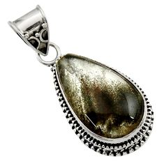 Clearance Sale- 925 sterling silver 15.35cts natural green moss agate pendant jewelry d45110