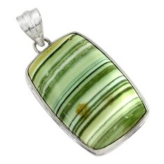 925 sterling silver 26.70cts natural green opal octagan pendant jewelry r31899