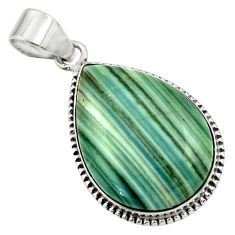 925 sterling silver 20.07cts natural green opal pear pendant jewelry r31893