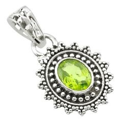 925 sterling silver 2.42cts natural green peridot pendant jewelry t30486