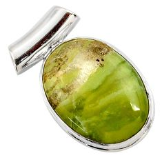 925 sterling silver 15.65cts natural green pietersite (african) pendant r27631