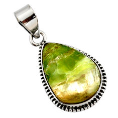 925 sterling silver 15.08cts natural green pietersite (african) pendant r27638