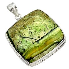 925 sterling silver 37.13cts natural green swiss imperial opal pendant r30508