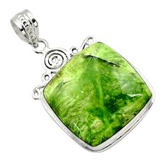 925 sterling silver 22.02cts natural green swiss imperial opal pendant r32173