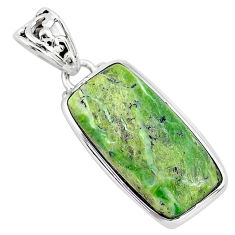 925 sterling silver 14.68cts natural green swiss imperial opal pendant r94552