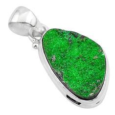 925 sterling silver 11.57cts natural green uvarovite garnet fancy pendant t1923