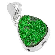 925 sterling silver 10.28cts natural green uvarovite garnet fancy pendant t1945