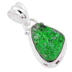 925 sterling silver 6.62cts natural green uvarovite garnet fancy pendant t2046