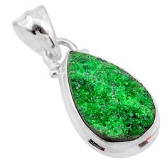 925 sterling silver 8.24cts natural green uvarovite garnet pear pendant t1975