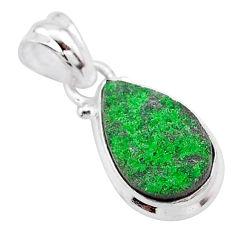 925 sterling silver 5.43cts natural green uvarovite garnet pear pendant t1996