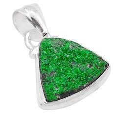 925 silver 6.58cts natural green uvarovite garnet handmade pendant t1967