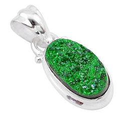 925 silver 3.93cts natural green uvarovite garnet handmade pendant t1988