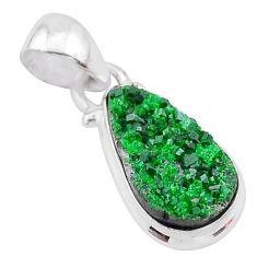 925 silver 6.62cts natural green uvarovite garnet handmade pendant t2051