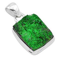 925 sterling silver 13.15cts natural green uvarovite garnet pendant t1939