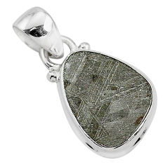 925 sterling silver 7.91cts natural grey meteorite gibeon pendant jewelry r95304
