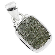 925 sterling silver 7.24cts natural grey meteorite gibeon pendant jewelry r95320