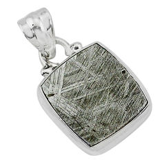 925 sterling silver 9.33cts natural grey meteorite gibeon pendant jewelry r95329