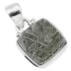 925 sterling silver 7.28cts natural grey meteorite gibeon pendant jewelry r95335