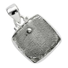 925 sterling silver 11.55cts natural grey meteorite gibeon pendant t29155