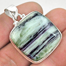 925 sterling silver 29.09cts natural kammererite cushion pendant jewelry t42715