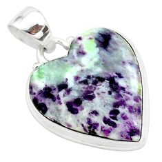 925 sterling silver 14.65cts heart kammererite heart pendant jewelry t23034
