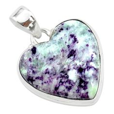 925 sterling silver 18.20cts heart kammererite heart pendant jewelry t23040