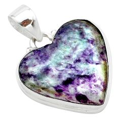 925 sterling silver 16.73cts heart kammererite heart pendant jewelry t23052