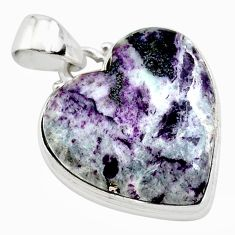 925 sterling silver 17.22cts heart kammererite heart pendant jewelry t23056