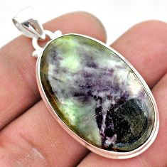 925 sterling silver 31.00cts natural kammererite oval pendant jewelry t42904