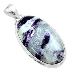 925 sterling silver 25.57cts natural kammererite oval pendant jewelry t46069