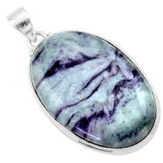 925 sterling silver 32.73cts natural kammererite oval pendant jewelry t46084