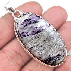 925 sterling silver 50.23cts natural kammererite oval pendant jewelry t46223