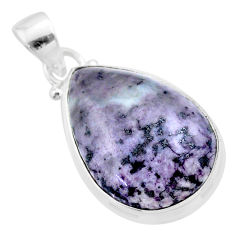 925 sterling silver 16.20cts natural kammererite pear pendant jewelry t46008