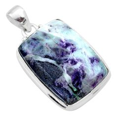 925 sterling silver 26.11cts natural kammererite handmade pendant jewelry t46078