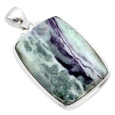 925 sterling silver 31.53cts natural kammererite pendant jewelry t46087