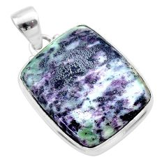 925 sterling silver 22.54cts natural kammererite pendant jewelry t46100