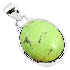 925 sterling silver 14.72cts natural lemon chrysoprase pendant jewelry r94584