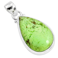 925 sterling silver 14.07cts natural lemon chrysoprase pendant jewelry r94593