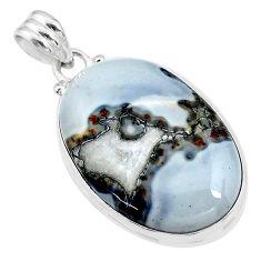 925 sterling silver 25.00cts natural malinga jasper pendant jewelry t18443