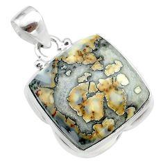 925 sterling silver 17.57cts natural malinga jasper pendant jewelry t22875