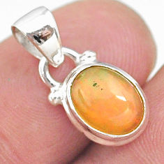 925 sterling silver 3.02cts natural multi color ethiopian opal pendant t21277