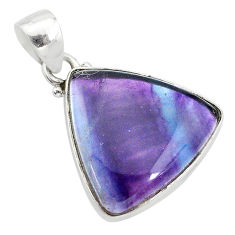 925 sterling silver 12.22cts natural multi color fluorite pendant jewelry t21332