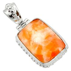 Clearance Sale- 925 sterling silver 20.65cts natural orange calcite pendant jewelry d41675