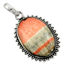 925 sterling silver 21.18cts natural orange celestobarite pendant jewelry r31974
